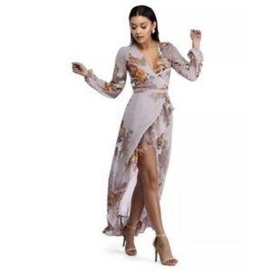 NWT Windsor Chiffon Floral Maxi Dress